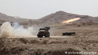 A rocket is launched near the city of Palmyra