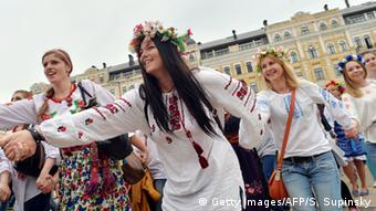 The embroidered Vyshyvanka is the traditional blouse of Ukraine