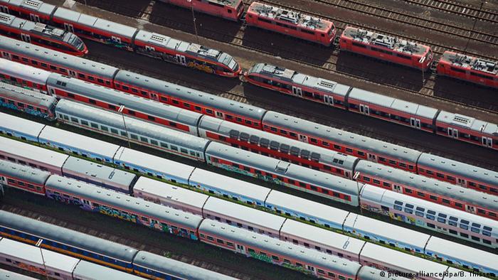 Поезда Deutsche Bahn во время одной из забастовок