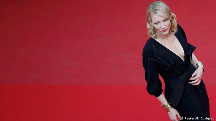 Cannes film fest: Cate Blanchett on the red carpet in 2015