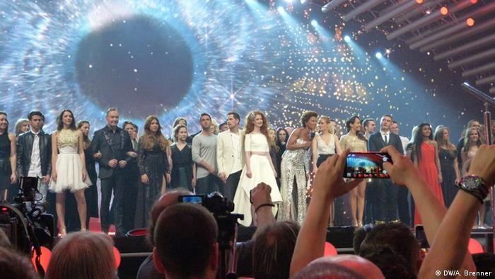 Участники второго полуфинала на сцене Евровидения в Вене