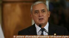 Guatemala Präsident Otto Perez Molina