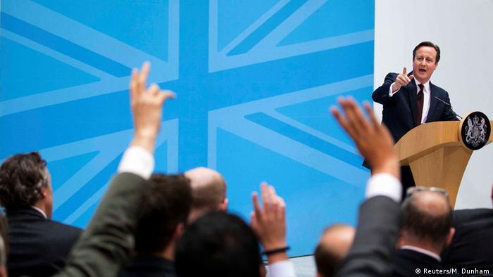 Großbritannien Premierminister Cameron Immigration