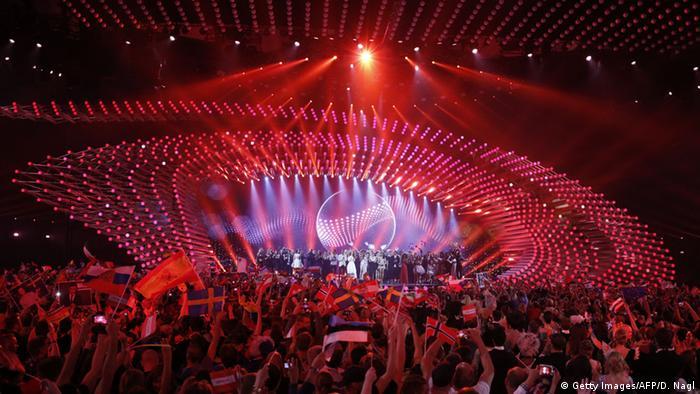 Сцена во время второго полуфинала Евровидения-2015