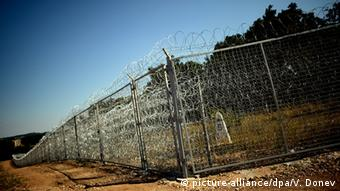 Пограничный забор между Болгарией и Турцией