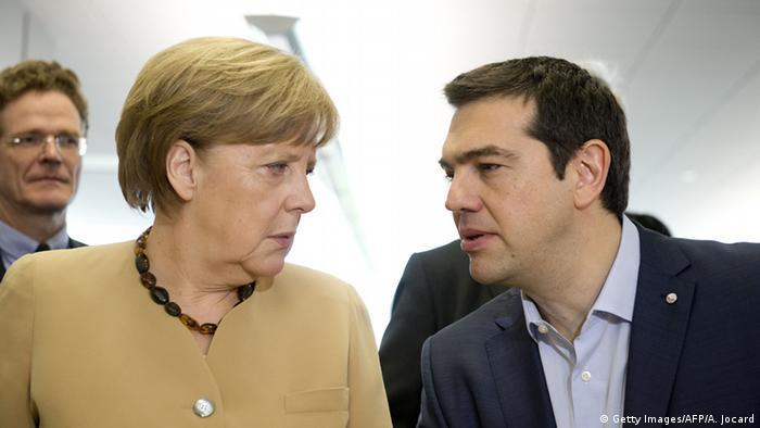 Анґела Меркель і Алексіс Ципрас