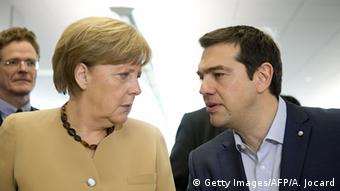 Alexis Tsipras and Angela Merkel (Getty Images/AFP/A. Jocard)