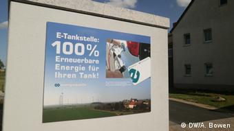 Ladestation für ein Elektroauto in Feldheim (Foto: DW/A. Bowen).