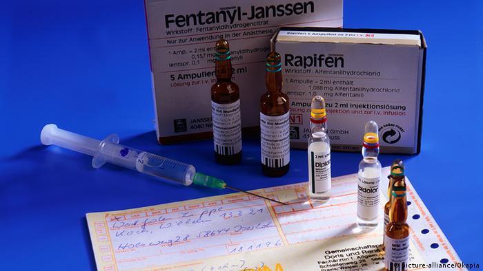 Deutschland Medizin Medikament Schmerzmittel Morphin und Fentanyl