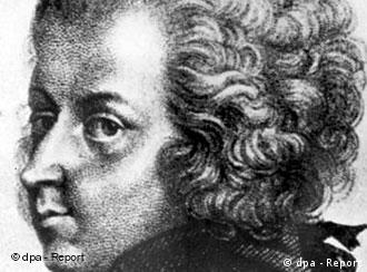 Austrian composer Wolfgang Amadeus Mozart in a painting by Grassei. +++(c) dpa - Report+++ (Format: Bilder des Tages quer)