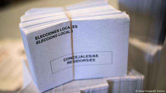 Избирательные бюллетени для региональных выборов в Испании