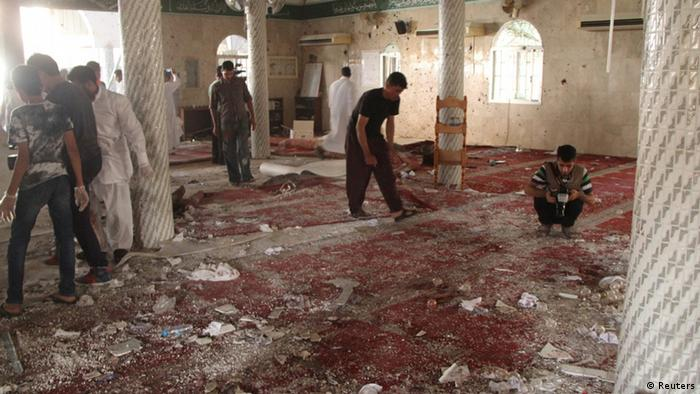Debris on the floor of the mosque