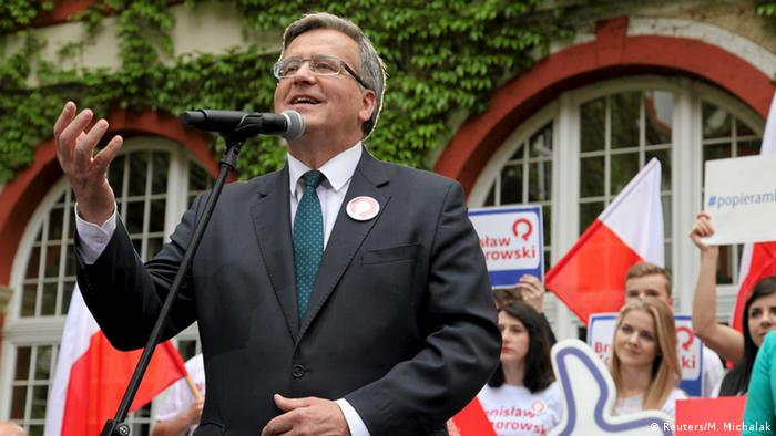 Wahl Polen 2015 Kandidaten Komorowski