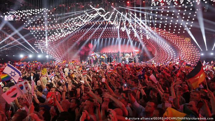Зрители на конкурсе Евровидение в Вене