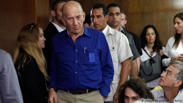 Israel Korruption Ehud Olmert Gefängnisstrafe (picture-alliance/AP/F. O'Reilly)