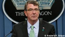 U.S. Defense Secretary Ash Carter speaks at a news conference at the Pentagon in Washington, in this file photo taken May 1, 2015. Carter announced on Saturday that U.S. Special Forces had conducted an operation in Eastern Syria and killed senior Islamic State leader Abu Sayyaf. REUTERS/Yuri Gripas/Files