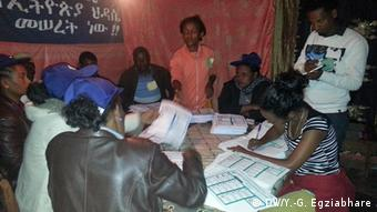 Vote counting after Ethiopia's may elections
