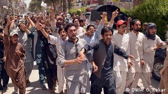 Pakistan Provinz Balochistan Proteste gegen Regierung