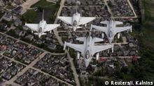Litauen NATO Luftmanöver im Baltikum
