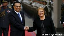 Chile Besuch Premierminister China Li Keqiang mit Michelle Bachelet