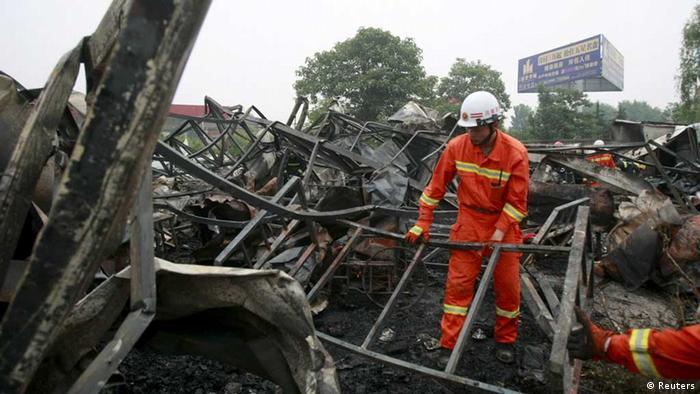 Tote nach Feuer in chinesischem Altersheim