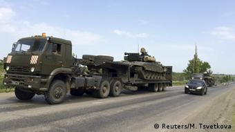 Russland Panzer an der Grenze zur Ukraine