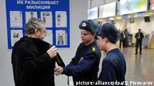 Russland Flughafen Kontrolle