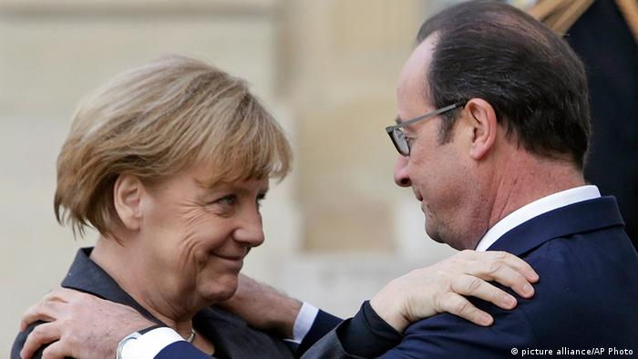 Frankreich Angela Merkel und Francois Hollande in Paris