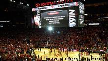USA Unwetter Basketball-Arena in Houston Texas