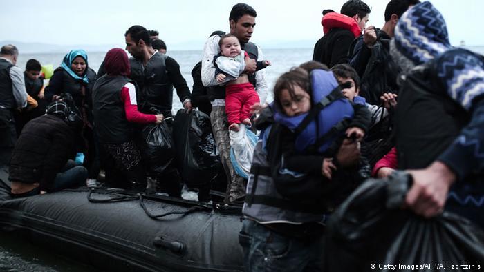 Griechenland Mittelmeer Flüchtlingsboot