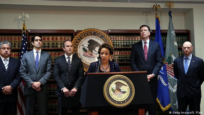 Ministra da Justiça dos EUA, Loretta Lynch, fala sobre as acusações contra dirigentes da Fifa