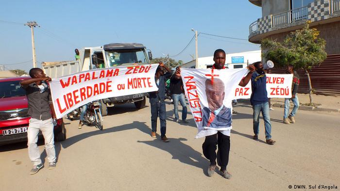 Protest in Benguela, Angola (DW/N. Sul d'Angola)