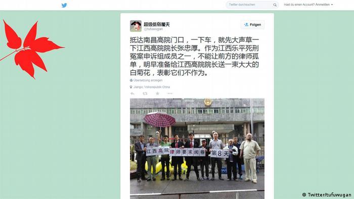 Screenshot Twitter Wu Gan