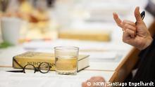 ### BITTE SPERRFRIST BEACHTEN : Die Bilder dürfen erst ab Montag, 1. Juni 2015, 10 Uhr veröffentlicht werden. ### Internationaler Literaturpreis – Haus der Kulturen der Welt 2015 II. Jurysitzung (Kriteriendiskussion & Shortlist-Ermittlung (6 Titel) 27.05.2015. Copyright: HKW/Santiago Engelhardt Teilnehmer: Jurymitglieder: Leila Chammaa, Michael Krüger, Marko Martin, Sabine Peschel, Jörg Plath, Iris Radisch, Sabine Scholl HKW: Bernd M. Scherer (Intendant), Cordula Hamschmidt (Koordination, Projektleitung ILP), Juliane Krüger (Projektassistenz ILP), Hannah Eßler (Praktikantin ILP) Barbara Stang (Pressearbeit)