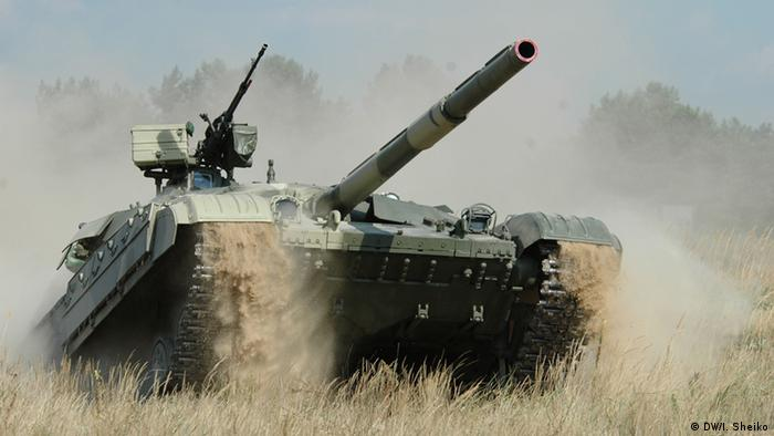 A tank in Ukraine