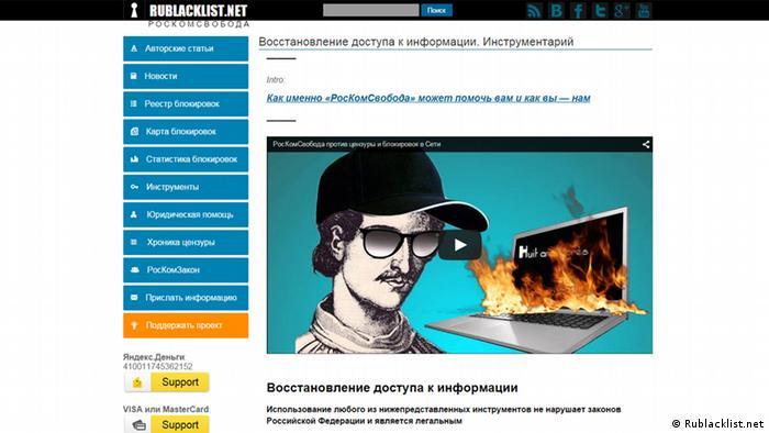 Скриншот Rublacklist.net