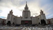 MOSCOW, RUSSIA. JANUARY 20. Pictured in this image is the main building of the Lomonosov Moscow State University (MGU, MSU). The university is to celebrate its 260th birthday on 25 January. Savostyanov/TASS