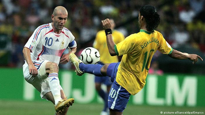 Ronaldinho und Zinedine Zidane