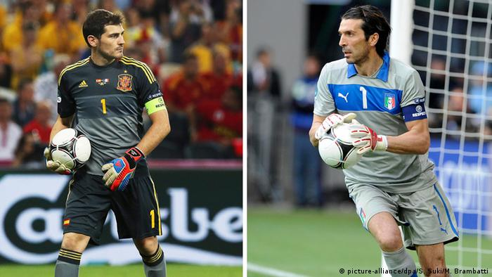 Casillas und Gianluigi Buffon
