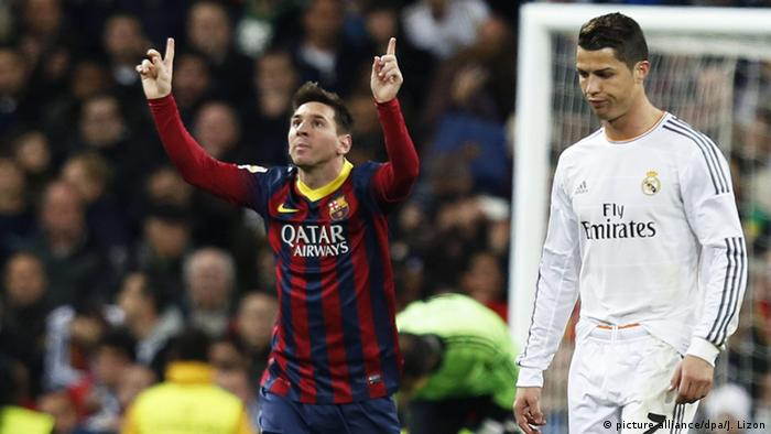 Lionel Messi and Cristiano Ronaldo (picture-alliance/dpa/J. Lizon)