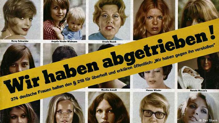 Revista Stern 1971. Título: Nós abortamos.