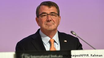 US Secretary of Defense Ashton Carter attends the first plenary session at the 14th Asia Security Summit, the International Institute for Strategic Studies (IISS) Shangri-La Dialogue 2015 in Singapore on May 30, 2015 (Photo: ROSLAN RAHMAN/AFP/Getty Images)