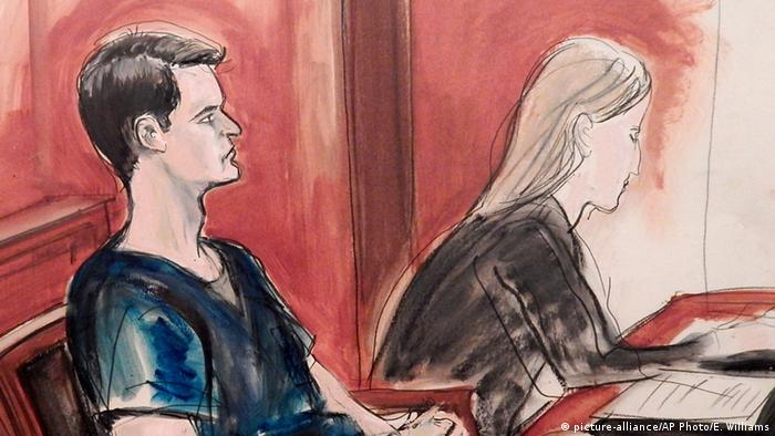Courtroom sketch of Ulbricht AP Photo/Elizabeth Williams