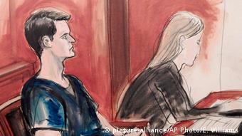 Skica sa suđenja Rossu Ulbrichtu