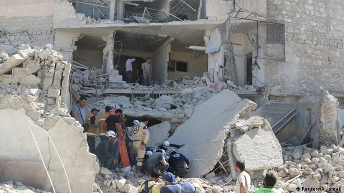 Häuserruinen nach Bombardement in Aleppo Syrien (Reuters/A. Ismail)