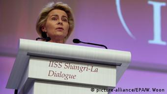 Ursula von der Leyen Singapur IISS Asien Sicherheitskonferenz