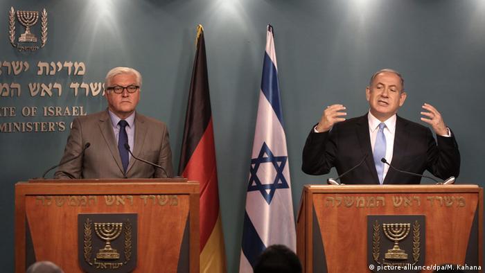 Frank-Walter Steinmeier und Benjamin Netanyahu in Israel