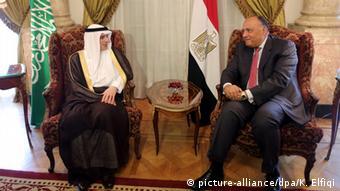 Sameh Shoukry und Adel al-Jubair Pressekonferenz