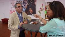 Farhad Tohidi, der Sprecher des Kino Hause (Khane Sinema) im Iran. Iranisches Film Festival in Köln 29-31 Mai 2015. Foto: DW/Mitra Shodjaie