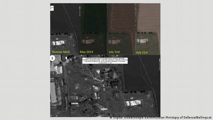 Satelliten-Bild von MH17